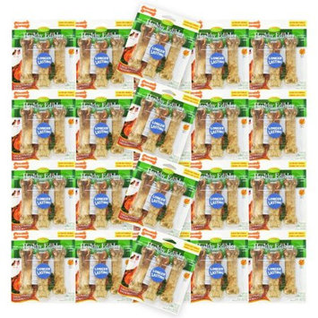 Acme Furniture Nylabone Healthy Edibles Nylabone Natural Healthy Edibles Wholesome Chews - Chicken Flavor Regular BULK - 72 Bones - (24 x 3 Pack)