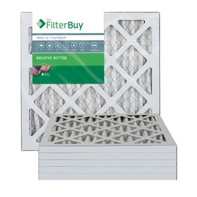 AFB Platinum MERV 13 8x16x1 Pleated AC Furnace Air Filter. Filters. 100% produced in the USA. (Pack of 6)