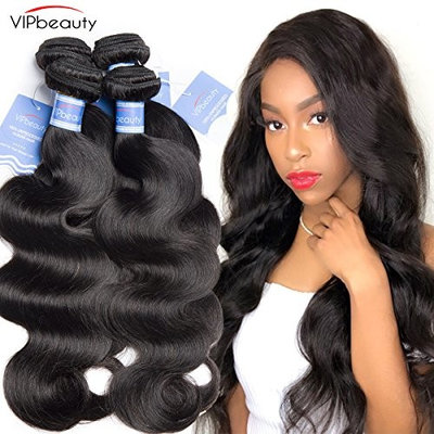 VIPbeauty Unprocessed Virgin Hair Brazilian Body Wave 3 Bundles 16