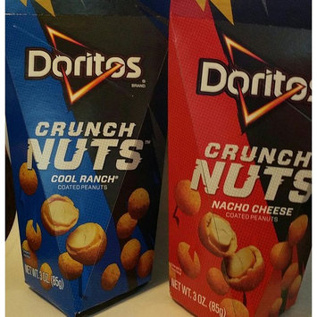 2-Doritos Crunch Nuts 1-NACHO CHEESE,1-COOL RANCH Coated Peanuts NET WT 3 OZ EACH