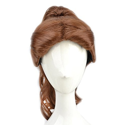 Yuehong Anime Women's Long Big Wavy Brown Cosplay Wigs With Ponytail For Halloween