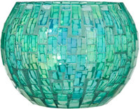 Home Essentials & Beyond Inc Home Essentials & Beyond 4.5-inch Mosaic Decorative Bowl (Green)