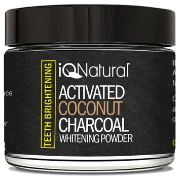 Teeth Whitening Activated Coconut Charcoal Powder. Eliminates bad breath, coffee and Tea Stains. 100% Organic and Natural.