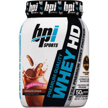 BPI Sports Chocolate Cookie Whey HD Dietary Supplement Powder, 1.71 lb