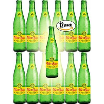 Topo Chico Mineral Water, Twist of Lime, 11.5oz Glass Bottle (Pack of 12, Total of 138 Oz)