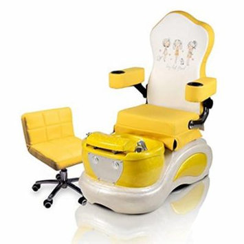 Kids Pedicure Chair YELLOW BEST FRIEND Childs Pedicure Spa Nail Salon Furniture & Equipment