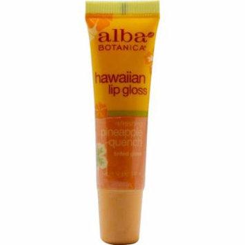 Alba Botanica® Hawaiian Clear Lip Gloss Pineapple Quench -- 0.42 oz (pack of 4)