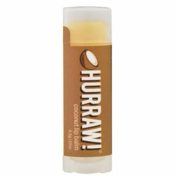 Hurraw! Balm Lip Balm Coconut -- 0.15 oz (pack of 4)