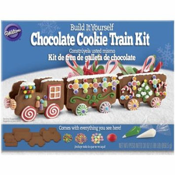 Wilton Build It Yourself Chocolate Cookie Train Decorating Kit