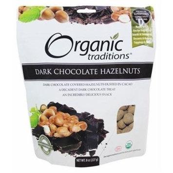 Organic Traditions - Dark Chocolate Hazelnuts - 8 oz.