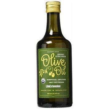 Life Extension California Estate Organic Extra Virgin Olive Oil, 500 Ml
