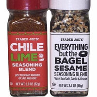 Trader Joe's Seasonings Bundle - Everything But the Bagel Sesame and Chile Lime Seasoning Blends (Package of 2)
