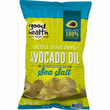 Good Health Avocado Oil Kettle Style Chips with Sea Salt 5 oz. Bag (4 Bags)