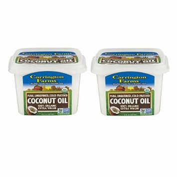 Carrington Farms 100% Organic Extra Virgin Coconut Oil, 12 Oz - 2 Pack