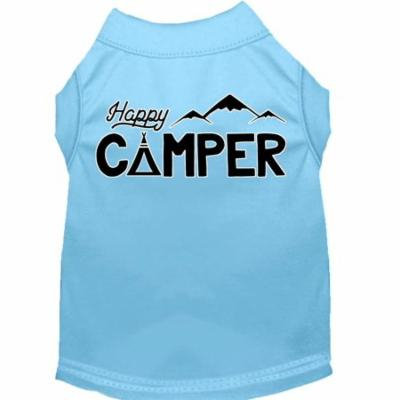 Happy Camper Screen Print Dog Shirt Baby Blue Xxxl (20)