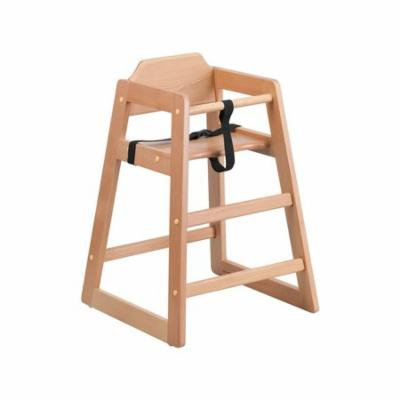 Offex Hercules Series Natural Wood Stackable Baby High Chair