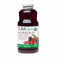 L&A 100% Organic Juice, Superfruit, 32 Fl Oz, 1 Count