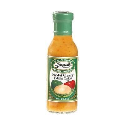 Braswell Non Fat Creamy Vidalia® Onion Dressing 12 oz Bottle (Pack of 6)