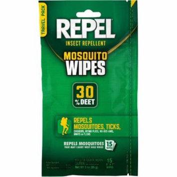 Repel Insect Repellent Mosquito Wipe Tick Flies Bugs 30% Deet 15 count (94100)