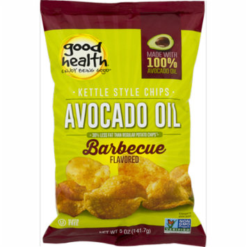 Good Health Avocado Oil Kettle Style Barbecue Chips 5 oz. Bag (4 Bags)