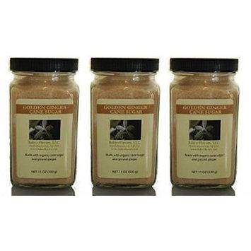 Bakto Organic Sugar Pack - 3 (1 lb Jars) - Golden Ginger Cane Sugar