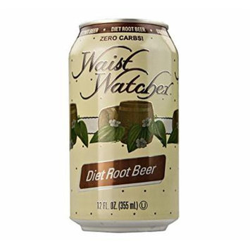 Waist Watcher Caffeine-Free Diet Root Beer, 12 Oz. Cans (Case of 24)