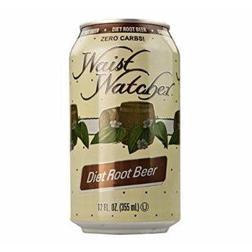 Waist Watcher Caffeine-Free Diet Root Beer, 12 Oz. Cans (Case of 24)