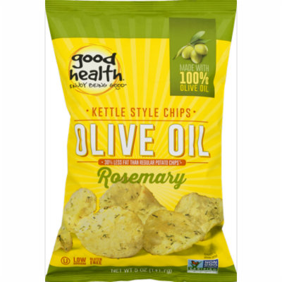 Good Health Olive Oil Kettle Style Chips with Rosemary 5 oz. Bag (3 Bags)