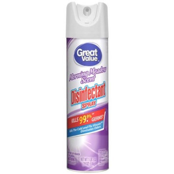 Great Value Disinfectant Spray, Morning Meadow Scent, 16 oz