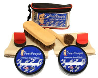 FeetPeople Ultimate Leather Care Kit with Travel Bag, White