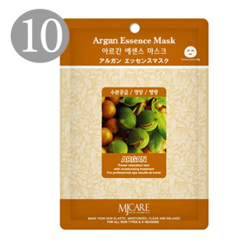 The Elixir Beauty The Elixir MJ Care Facial Full Face Mask Sheet - Premium Argan Essence Mask Korean Beauty Cosmetic (Pack of 10)