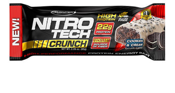 MuscleTech Nitro Tech Crunch Protein Bars, Cookies and Cream, 12 Bars