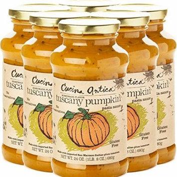 Cucina Antica Pasta Sauce, Tuscany Pumpkin,24 Ounce, 6 Count