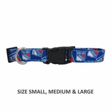 New York Rangers Pet Nylon Collar - Medium