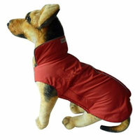 Cool Red Waterproof Dog Coat Jacket, Fleece Lined For Warmth, Chest Protector, Reflective Piping For night Safety two size