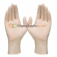 SSBM Brand Disposable General-Purpose Natural Rubber Latex Gloves, Powdered, Small, 72000