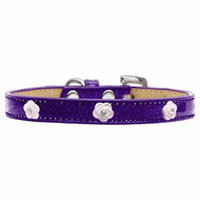 Light Pink Rose Widget Dog Collar Purple Ice Cream Size 12