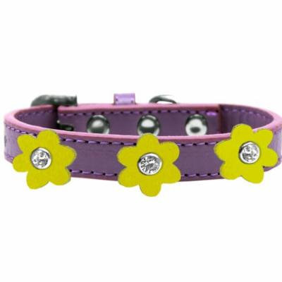Flower Premium Collar Lavender With Yellow Flowers Size 10