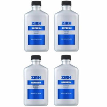 Zirh Refresh Invigorating Astringent, 6.7 oz (Pack of 4) + Old Spice Deadlock Spiking Glue, Travel Size, .84 Oz
