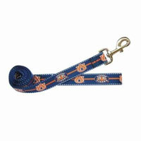 Auburn Tigers Pet Reflective Nylon Leash - Medium