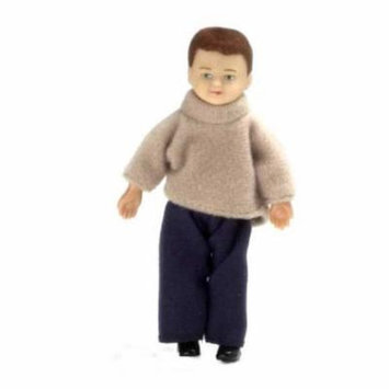 Boy W/Outfit/Brown Hair Doll - NEW