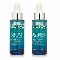 Lierac Sunific Aftersun Silky Serum, Anti-Aging & Regenerating, 1.1 Oz (Pack of 2) + Scunci Black Roller Pins, 18 Pcs