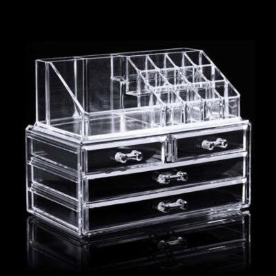 Hot sale! 3 Tiers Makeup Storage, Makeup Organizer Cosmetic Jewerly Display Box SPTE