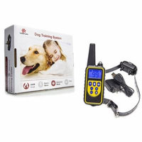 Hot Spot Pets Wireless Rechargeable Dog Training Collar W/ 100 Level Vibration & Shock