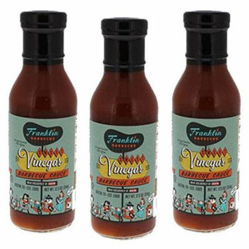 Franklin Barbecue Sauce 12.5oz Bottle (Pack of 3) (Sweet Vinegar)