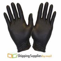 SSBM Disposable Nitrile Gloves, Powder-Free Latex-Free, Black, X-Large, 6000 ct