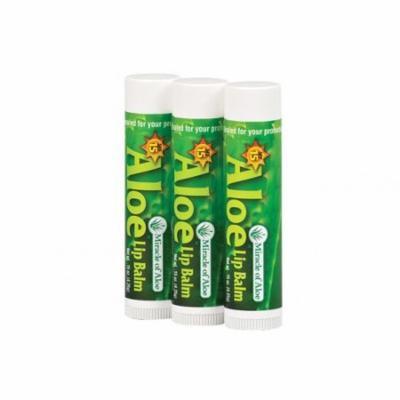 3 Pack SPF-15 Sunscreen Aloe Lip Balm .15 oz stick