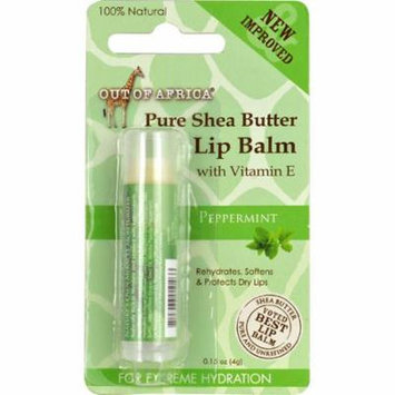 Out Of Africa Pure Shea Butter Lip Balm Peppermint -- 0.15 oz (pack of 6)