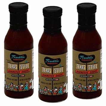 Franklin Barbecue Sauce 12.5oz Bottle (Pack of 3) (Texas Style)