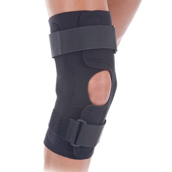 RolyanFit Wraparound Hinged Knee Brace, Comfort Wrap Knee Support & Stabilizer for Right or Left Leg, Supports Knee Joints & Muscles for Sports Wear, Low Profile Hinges & Secure Straps, XX-Large